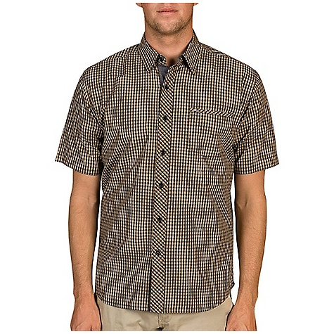 Surf Free Shipping. Billabong Men's Genesis SS Woven DECENT FEATURES of the Billabong Men's Genesis Short Sleeve Woven Short sleeve yarn dye mini-check woven with single front chest pocket Self fabric binding on pocke Sewn-on metal badge and contrast fabric on inner placket and collarstand The SPECS 100% Cotton - $49.50