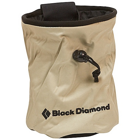 Climbing Black Diamond Chalk Bag with Zippered Pocket DECENT FEATURES of the Black Diamond Chalk Bag with Zippered Pocket Zippered pocket stashes keys, rings or currency Large enough to hold a block of chalk Same features as our other chalk bags The SPECS Weight: 3 oz / 85 g ALL CLIMBING SALES ARE FINAL. - $22.95