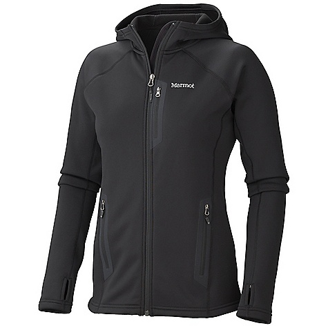 Free Shipping. Marmot Women's Power Stretch Hoody DECENT FEATURES of the Marmot Women's Power Stretch Hoody Polartec Power Stretch Flat Lock Construction Zippered Chest Pocket Zippered Hand Pockets Elastic Bond Cuffs with Integrated Thumb Holes Elastic Draw Cord Hem The SPECS Fit: Athletic Polartec Power Stretch 91% Polyester 9% Elastane 5.9 oz/yd - $144.95