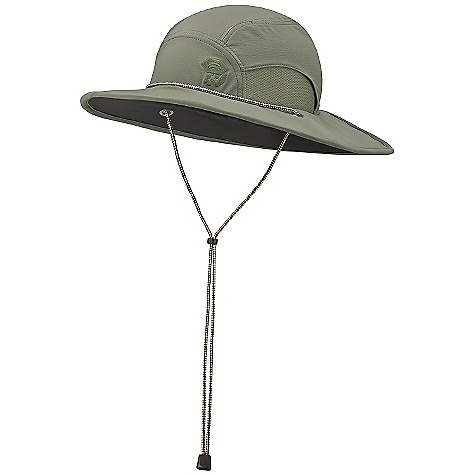 Mountain Hardwear Men's Talus Sun Hat DECENT FEATURES of the Mountain Hardwear Men's Talus Sun Hat Durable and abrasion-resistant 4-way stretch fabric provides comfort and protection Mesh sides for ventilation Lightweight foam brim folds up and packs down small for shoving in a pack Dark, glare-reducing color under brim The SPECS Average Weight: 4 oz / 110 g Body: Switchback plus (85% nylon, 15% elastane) - $34.95