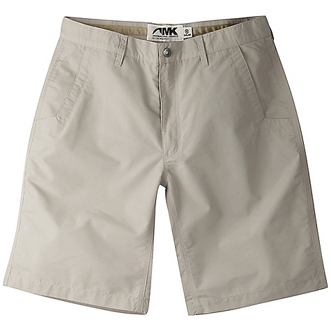 Features of the Mountain Khakis Men's Poplin 8IN Short 4.65 oz 70% Cotton / 30% Polyester Poplin with Peach Finish 5 Pockets Welt Back Pockets with Coconut Button Closure YKK Zipper Inseam Action Gusset Triple-Stitched Seams Garment Washed Mid-Rise, Relaxed Fit - $64.95