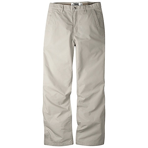 On Sale. Free Shipping. Mountain Khakis Men's Poplin Pant FEATURES of the Mountain Khakis Men's Poplin Pant 5 Pockets Welt Back Pockets with Coconut Button Closure Diamond-Shaped Action Gusset YKK Zipper Reinforced Heel Cuffs Triple-Stitched Seams Garment Washed - $49.99