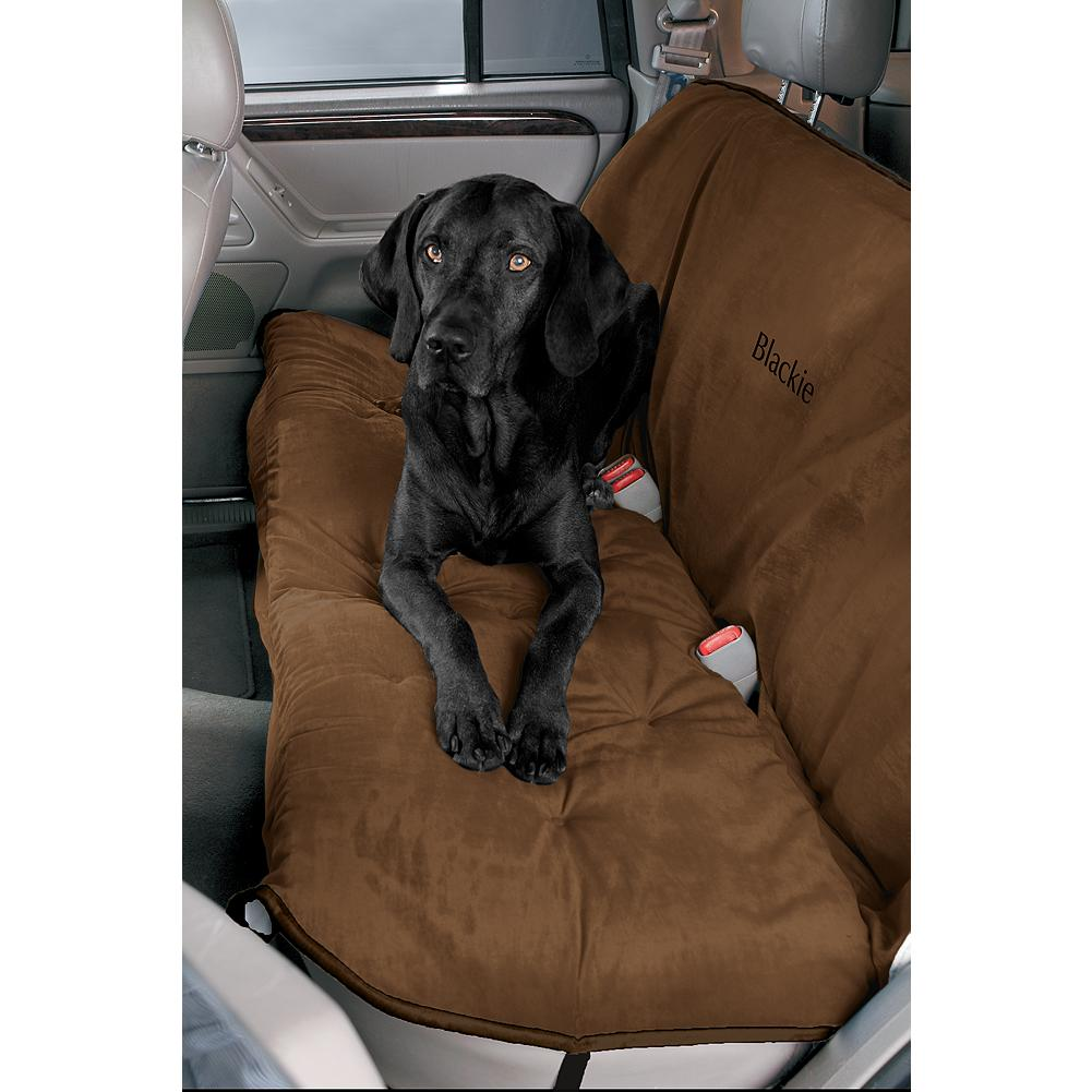 Skateboard Eddie Bauer Back Seat Car Cover - Protect your seats and pamper your pet! The seat cover fits vans, trucks, SUV's, and sedans with fold-down rear seats. Elastic straps and metal clips ensure a safe and secure fit to the rear seat, with convenient seat-belt openings. The cover is made with durable and machine washable microvelvet fabric, controlling moisture and pet-hair. Imported. - $69.99