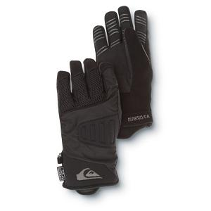 Snowboard Quiksilver Vader Kids Snowboard Gloves - The Quiksilver Vader Snowboard Gloves are great for any kid who is learning how to snowboard and loves riding through the pipe. These pipe gloves offer a cuff adjuster so they can stay on your child's hands tightly and securely. Inside there is Brushed Tricot Lining to keep those fingers very comfortable and warm. There is a 5k Hipora inside the glove which adds to its breathability and waterproofness so their hands will stay dry throughout the day. There is a silicone printed non-slip grip which is perfect for any rider needing to grab hold of the board with a solid grip as well. With the Quiksilver Vader Snowboard Gloves you can expect to have a happy rider with warm, dry and comfortable hands. . Removable Liner: No, Material: 80% Nylon, 20% Polyester, Warranty: One Year, Battery Heated: No, Race: No, Type: Glove, Use: Ski/Snowboard, Wristguards: No, Outer Material: Nylon, Waterproof: Yes, Breathable: Yes, Pipe Glove: Yes, Cuff Style: Under the cuff, Down Filled: No, Model Year: 2012, Product ID: 296481 - $19.99