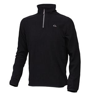 Surf Quiksilver Aker Half Zip Mens Mid Layer - When temperatures drop, it can be super chilly on the mountain. The Quiksilver Aker Half Zip Fleece is the perfect mid-layer for staying warm. Featuring 100% recycled polyester micro polar fleece to keep the body warm. Thumbholes prevent the hoodie from riding up on you as you cruise the mountain. The Aker Half Zip Fleece is a one-stop shop for mid-layering, body warmth, and all around comfort. . Material: 100% recycled polyester micro polar fleece, Fleece Weight: Mid, Category: Mid-Weight, Bearing Grade: Performance, Hood: No, Warranty: Other, Battery Heated: No, Closure Type: Partial Zip Top, Wind Protection: No, Type: Turtlenecks and Layering, Material: Fleece, Wicking Properties: No, Sleeve Type: Long Sleeve, Water Resistant: No, Model Year: 2012, Product ID: 307311, Model Number: KKMPO063-BLK XS, GTIN: 0883356797455 - $29.99