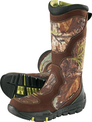 Hunting A fusing of proprietary fabrics creates the ultimate in snakebite-resistant boots. Unlike most boots, the leather and nylon uppers offer protection throughout the entire boot rather than select areas. This snake proof material is also more flexable and lighter weight than simalar materials. Padded ripstop nylon collars reduce pressure points for greater comfort. Gusseted side zippers provide convenient on and off. Breathable, waterproof GORE-TEX linings keep your feet cool and dry. Scent IQ antimicrobial technology reduces game-spooking odor. The molded heel guards are extremely abrasion-resistant and make kicking them off a breeze. Ultra-aggressive Level 3 rubber outsoles provide excellent traction in a variety of terrain. Imported.Height: 16.Average weight: 3.4 lbs./pair.Mens sizes: 8-13 D and EE widths. Half sizes to 12.Camo pattern: Realtree XTRA . Type: Snake Boots. Size: 8 1/2. Shoe Width: 2E. Color: Realtree Xtra. Size 8 1/2. Width Ee. Color Realtree Xtra. - $189.88