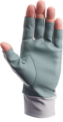 Fishing Protect your hands from dangerous UV rays with constant 50+ UPF hand protection that won't wash off and never needs to be reapplied. These gloves feature synthetic-leather palms for protection from fish, hooks and fishing line. Lycra back. Open fingertips for dexterity. Imported. Sizes: S-XL.Color: Gray. - $22.99