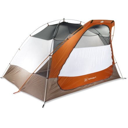 Camp and Hike The REI InCamp 4 Tent is a weatherproof refuge that packs down small and lets you customize your campground coverage when you add an InCamp shelter and other accessories. - $189.93