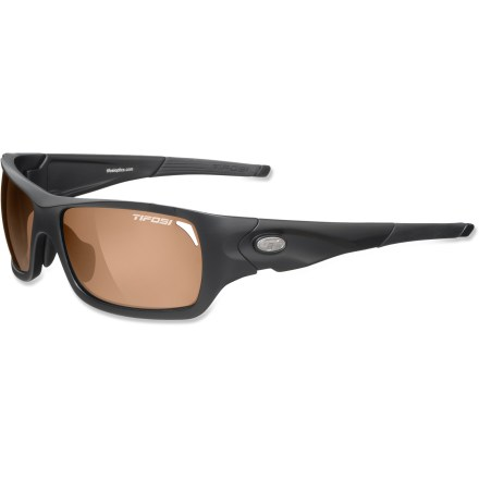 Camp and Hike TheTifosi Duro Polarized FototecTM Photochromic sunglasses combine glare-reducing properties and variable tint, keeping you covered whether hiking, skiing or kayaking. - $79.93