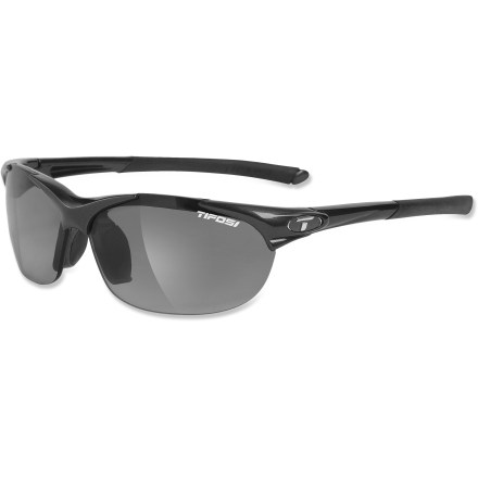 Camp and Hike The Tifosi Wisp Fototec(TM) Photochromic sunglasses automatically adjust tint in changing light, accommodating both sunny and hazy conditions. - $69.95