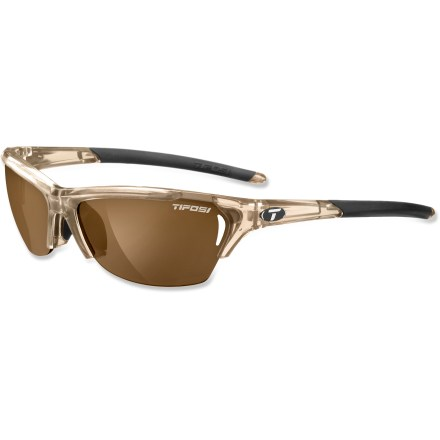 Camp and Hike TheTifosi Radius Polarized Fototec(TM) Photochromic sunglasses cut the glare while adding versatility; variable tint has you covered  whether on the snow, the water, or the road to your adventure. - $99.95