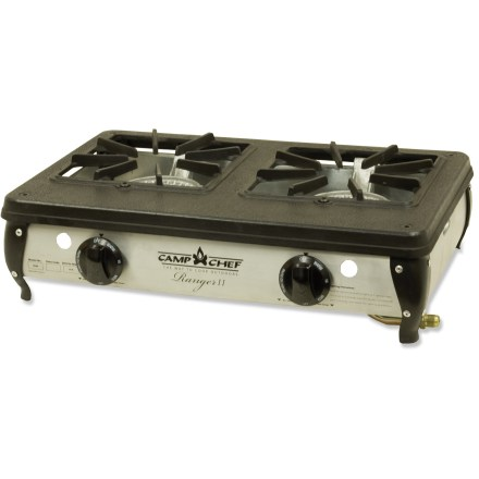 Camp and Hike The Camp Chef Ranger 2-burner camp stove delivers portability and power to make camp cooking fast and easy. - $109.95