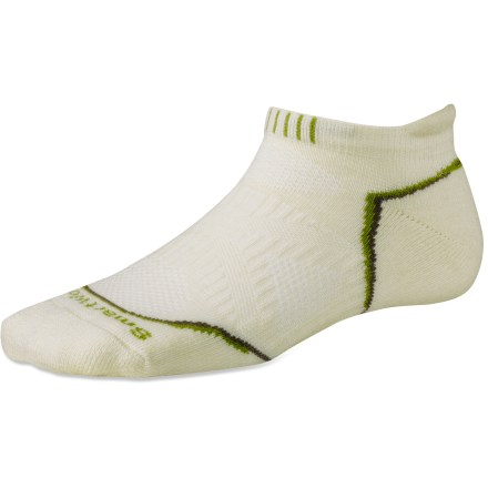 SmartWool PhD Outdoor Light Micro women's socks feature innovative fabric, a comfortable fit and smart design details that enhance performance. These low-cut socks hit at the ankles. - $16.95