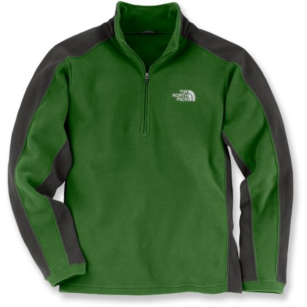 The North Face Glacier Micro quarter-zip top is a warm layer with an athletic fit. Boys can wear it nearly anywhere for a wide range of cool-weather activities. - $19.83