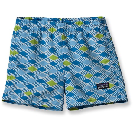 The Patagonia Baggies shorts keep up with your little one, offering quick-drying fabric for comfort in and out of the water. - $16.83