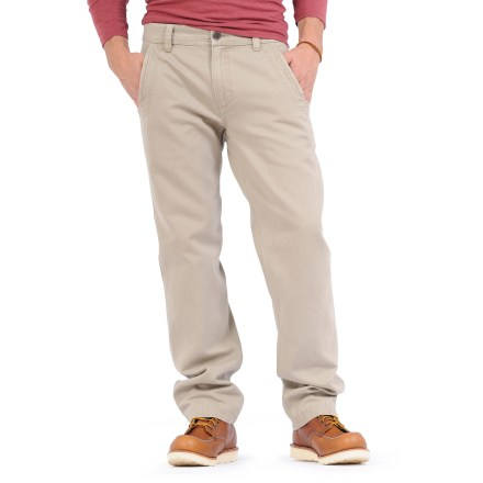 The Horny Toad Dusty Pants with 32 in. inseam mix the heavy-duty performance of a canvas pant with a soft and flexible texture for strong, durable pants that are exceptionally comfortable. Made from certified 100% organic cotton for breathable comfort and easy care. 2 reinforced front slash pockets and 2 back pockets provide easy storage. Additional coin pocket wraps over side seam. - $76.00