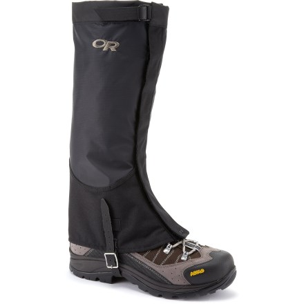 Cover ground quickly in the backcountry or blast through a bushwhack approach with the Outdoor Research Verglas gaiters. They are designed to move fast and carry light in the mountains. - $60.00