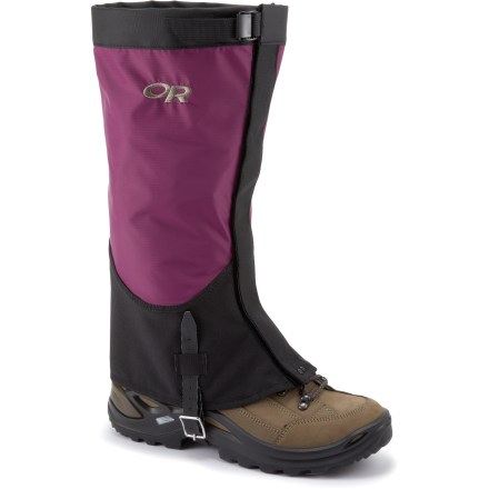 Cover ground quickly in the backcountry or blast through a bushwhack approach with the Outdoor Research Verglas gaiters for women. They are designed to move fast and carry light in the mountains. - $60.00