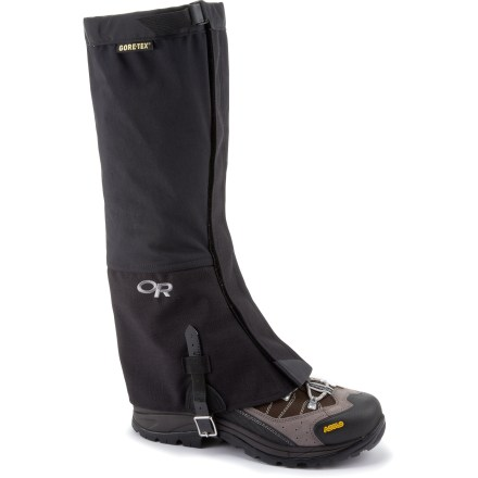 Climbing The Outdoor Research Crocodile(R) gaiters keep snow out of your boots while snowshoeing, cross-country skiing or climbing glaciated mountains. - $79.00