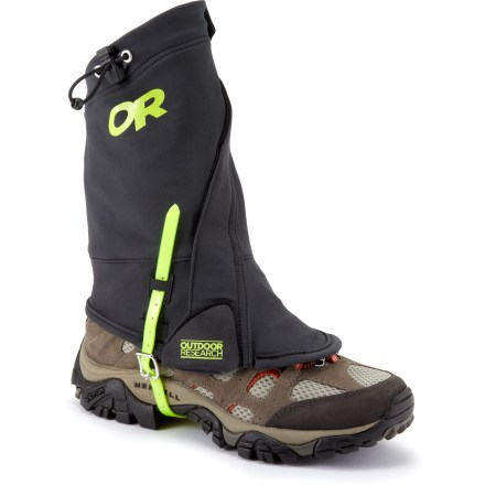 Fitness The lightweight, protective Outdoor Research EnduranceTM gaiters provide plenty of stretch for athletic movements on the trail, while keeping snow and debris out of your boots. - $33.83