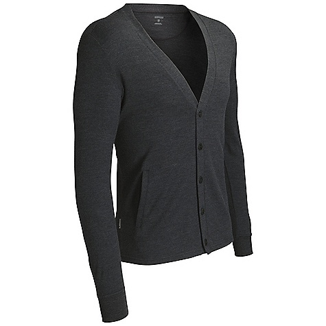Free Shipping. Icebreaker Men's Escape Cardigan DECENT FEATURES of the Icebreaker Men's Escape Cardigan 260gm jersey / 100% merino Ribbed cuffs Dual front hand pockets Icebreaker pip label Button front closure - $159.95
