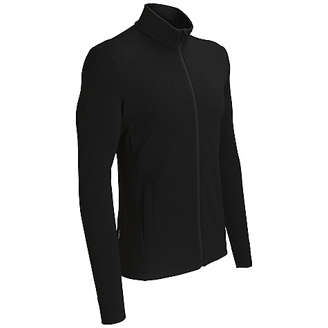 On Sale. Free Shipping. Icebreaker Men's Quattro Jacket DECENT FEATURES of the Icebreaker Men's Quattro Jacket 260gm terry / 98% merino / 2% lycra Full zip front with chin guard Zipped front pockets Ribbing at cuff Zig zag stitch detailing Set-in sleeves Icebreaker pip label - $159.96