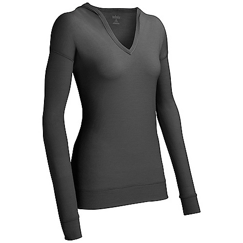 Free Shipping. Icebreaker Women's Vista Hood DECENT FEATURES of the Icebreaker Women's Vista Hood 200gm jersey / 100% merino Dropped shoulder Open v neck with diagonal stitch detail allows effortless layering Longer length, wide hem drapes just right Icebreaker pip label Bound neck opening Self-fabric hem and sleeve cuffs Contrast stitching on inside of hood - $119.95