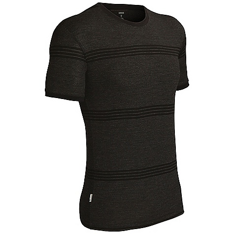 Fitness Free Shipping. Icebreaker Men's Tech T Stripe Top DECENT FEATURES of the Icebreaker Men's Tech T Stripe Top 200gm jersey / 100% merino Set-in sleeves Regular fit Woven stripes Icebreaker pip label - $89.95