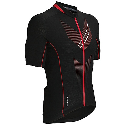 Free Shipping. Icebreaker Men's Victory SS Zip Top DECENT FEATURES of the Icebreaker Men's Victory Short Sleeve Zip Top 150gm jersey / 96% merino / 4% lycra Functional 3-panel pocket with tyre pump storage Secure back zip pocket with media cord port Gripper elastic at drop tail hem prevents riding up Reflective piping at back pocket for visibility Saddle-shaped raglan sleeve for ease of movement - $149.95