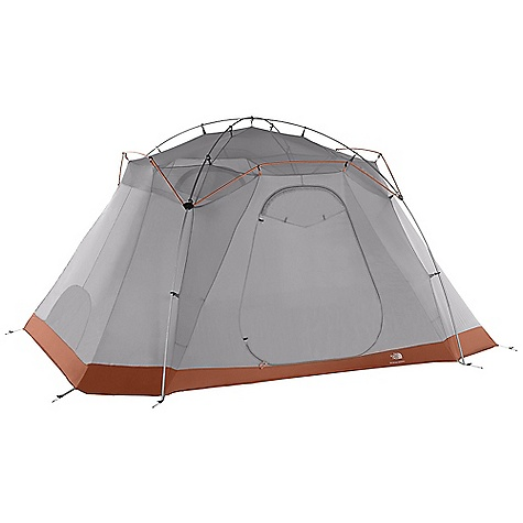 Camp and Hike On Sale. Free Shipping. The North Face Mountain Manor 8  Bx - 8 Person Tent DECENT FEATURES of The North Face Mountain Manor 8 Bx - 8 Person Tent Room dividers Huge poled front vestibule Fusion pitchwith Twist Clip Comprehensive color-coded pitch S/R rainfly attachment Fully seamtaped, durable oxford nylon floor PU ports on rainfly High-low venting with sealableroom vents Duffel-style storage sack Durable steel stake The SPECS Capacity: 8 Person Average Weight: 1 lb 11 oz / 765 g Total Weight: 27 lbs 5 oz / 12.38 kg Trail Weight: 24 lbs 5 oz / 11.03 kg Fastpack Weight: 16 lbs 9 oz / 7.52 kg Footprint Weight: 1 lb 11 oz / 0.77 kg Floor Area: 120 square feet / 11.1 square meter Vestibules: 2 Vestibules Area: front: 33.2 square feet / 3.1 square meter, rear: 11.5 square feet / 1.1 square meter Peak Height: 74in. Stuffsack Size: 29 x 12in. / 74 x 30 cm Number of Poles: 7 Pole Diameter: 14.5 mm, 13 mm, 12 mm Doors: 2 Fly: Durable polyester taffeta, 1200 mm PU coating, water-resistant finish Canopy: Lightweight nylon taffeta, water-resistant finish Mesh: Polyester in.No-See-Umin. mesh Floor: Durable nylon taffeta, 3000 mm PU coating OVERSIZE ITEM: We cannot ship this product by any expedited shipping method (3-Day, 2-Day or Next Day). Even if you pick that option, it will still go Ground Shipping. Sorry for being so mean. This product can only be shipped within the United States. Please don't hate us. - $511.16