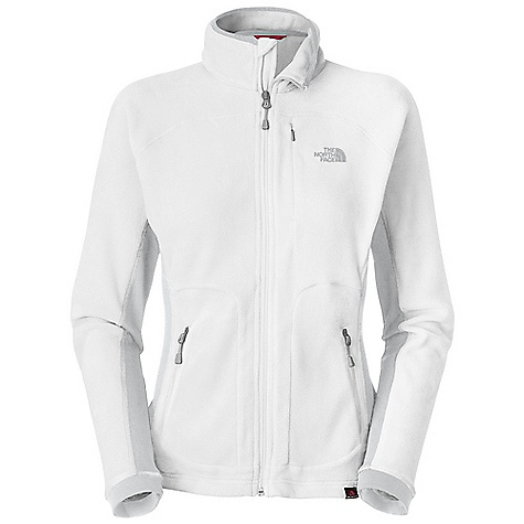 Fitness Free Shipping. The North Face Women's 100 Aurora Jacket DECENT FEATURES of The North Face Women's 100 Aurora Jacket Unique micro fibers provide an unparalleled soft hand feel Stretch panels at side through underarm for increased mobility Invisible zip pocket at chest Underarm gusset Two hand pockets The SPECS Average Weight: 10 oz / 285 g Center Back Length: 24.25in. Body: 150 g/m2 (5.29 z/yd2) 100% polyester Polartec Classic 100 Micro Panels: 265 g/m2 (9.34 oz/yd2) 93% polyester, 7% elastane This product can only be shipped within the United States. Please don't hate us. - $89.95