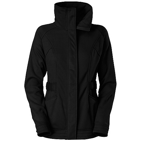 Free Shipping. The North Face Women's Avery Fleece Jacket DECENT FEATURES of The North Face Women's Avery Fleece Jacket Oversized collar Snap at collar and bottom hem Adjustable tabs at waist Two on-seam hand pockets with media egress at left-hand pocket Embroidered logo at left hip and back right shoulder The SPECS Average Weight: 23 oz / 650 g Center Back Length: 28in. 300 g/m2 100% polyester jersey face with Sherpa-backed bonded fleece This product can only be shipped within the United States. Please don't hate us. - $148.95