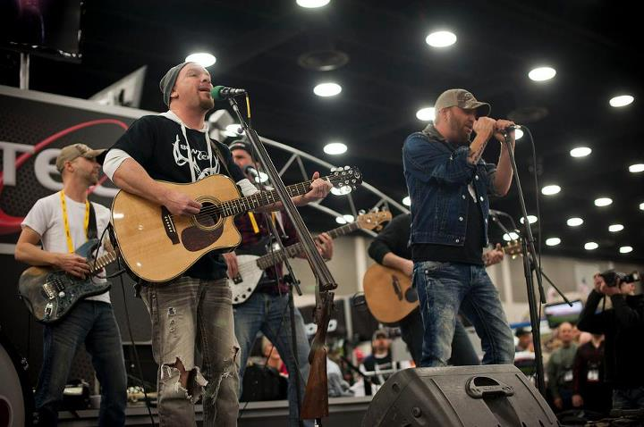 Locash Cowboys performing in the BowTech booth