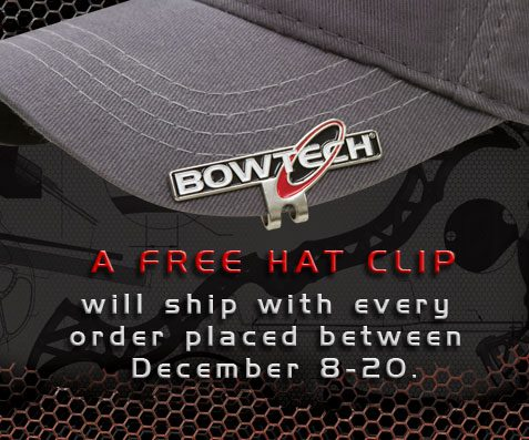 Free hat clip will ship with every apparel order from now until December 20! 