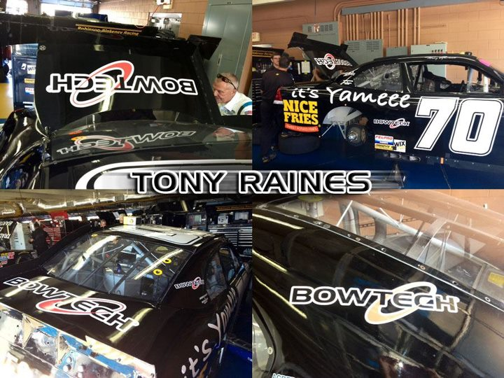 Motorsports Don't miss Tony Raines in the Nationwide Nascar - #70 BowTech car. Starting in a half hour on ESPN2!!