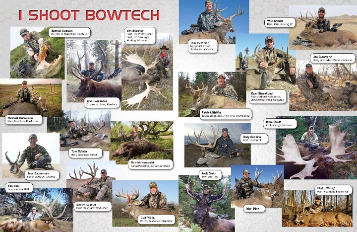 Heartland Bowhunter Television Jim Shockey Jim Shockey's - The Professionals Tom Nelson The American Archer Bowhunt America Bowhunter Magazine Pure Hunting Jim Burnworth Petersen's Bowhunting Savage Outdoors TV