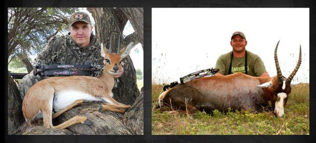 "A couple of the first few Insanity harvest photos that have been submitted to our photo room! ""LIKE"" this to congratulate Marko Jansen van Vuuren and Cornelis van Wyk!! To submit your photo, click here: http://bowtecharchery.com/#/displaySwf?i=6 http://ow"