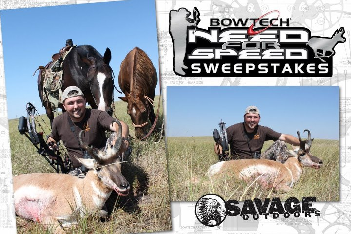 Our Need For Speed sweeps ENDS TOMORROW! Don't miss out on your chance to win this antelope hunt (actual hunt shown in these photos) with Mike Stroff, host of Savage Outdoors. http://www.bowtecharchery.com/NeedForSpeed/entry.php