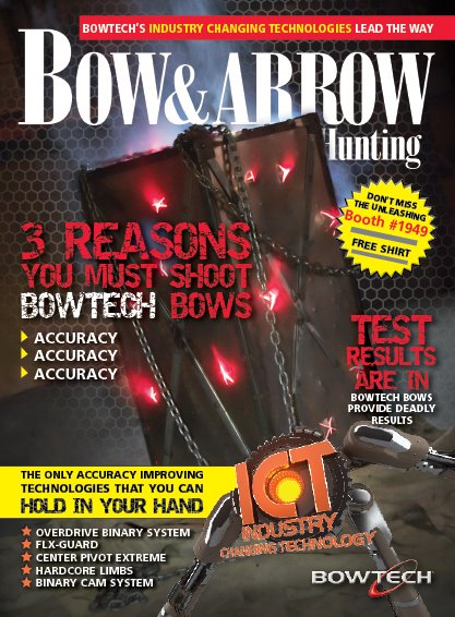 Entertainment Cover wrap for Bow & Arrow Hunting magazine
