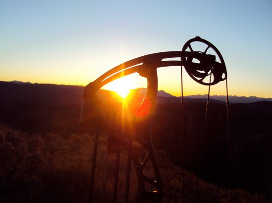 Jesse Vinson submitted this photo of his BowTech Sentinal in Utah. Cool shot!