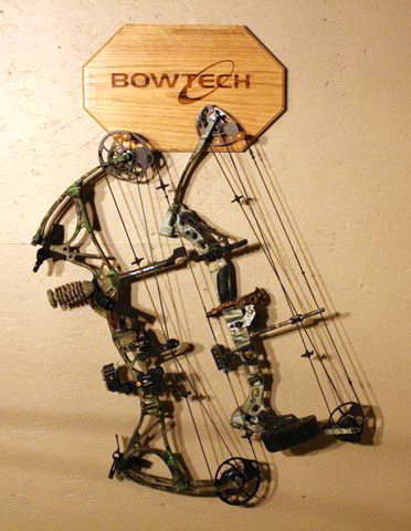 James created this handsome bow hanger for his son's birthday, and we love it! What are some ways you show your BowTech pride?