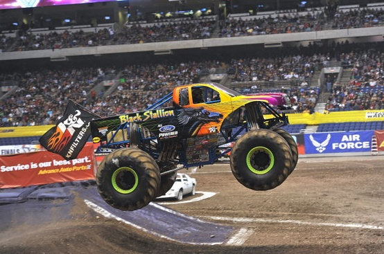 Motorsports The Black Stallion Monster Truck starts with OPTIMA power!