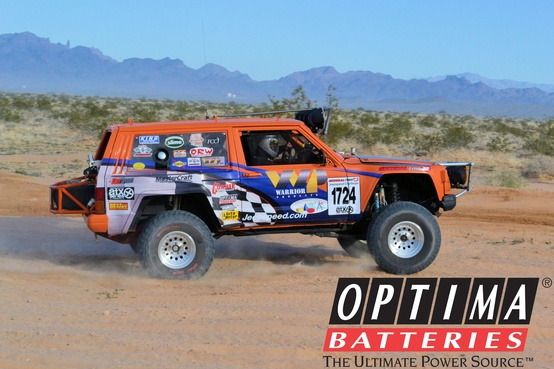 Motorsports Team WP races their OPTIMA-sponsored Jeepspeed entry in the Best in the Desert Series