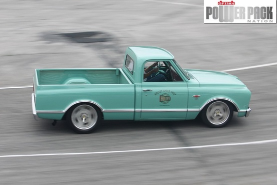 Auto and Cycle Autocrossing isn't just for cars.  Holley's shop truck had no trouble at the 2011 LS Fest