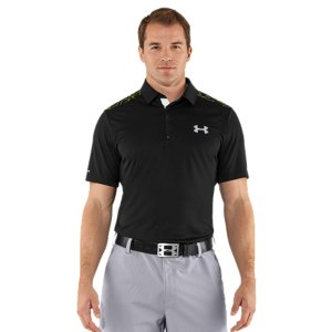 Fitness Black Out The Sun.Most fabrics-especially dark colors-heat up and become unbearable in the blazing sun. Well, no more. Revolutionary coldblack(R) technology makes dark colors act more like light colors, and light colors act like nothing else. It also has the benefit of protecting your skin from sun damage. Your new go-to golf polo for the intense heat. Revolutionary coldblack(R) technology reflects IR and heat rays, so even dark colors don't get as hotSoft knit fabric provides lightweight performance, for comfort from the links to the clubhouseSignature Moisture Transport System wicks sweat away from the body Anti-odor technology prevents the growth of odor causing microbesMinimum UPF 30+ with advanced sun protection to block out UV-A and UV-B raysThree snap, contrast placketMesh neck interior adds breathability Self-fabric collar lays flat for superior comfort while you moveBody: 3.8 oz. PolyesterMesh: 2.3 oz. PolyesterImported - $51.99