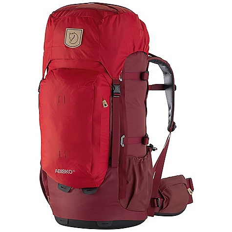 Free Shipping. Fjallraven Women's Abisko 55L Pack DECENT FEATURES of the Fjallraven Women's Abisko 55L Pack Lightweight trekking backpack for all year use Comfortable carrying system specifically designed for women, easily adjustable for different user lengths Full front opening for easy packing and great content overview Thermo molded bottom provides stability and protection Supportive hip belt with twin-pull adjustment and zippered stretch pocket Large front pocket holds rain gear etc Leather details The SPECS Weight: 2060 g excl. rain cover Webbing: 100% polyamide Dimension: (H x W x D): 67 x 32 x 33 cm Volume: 55 liter Rain Cover: Included System: Adjustable back length 210D HD Ripstop polyamide (40% recycled), 210D Wide Dobby polyamide (40% recycled) - $279.95