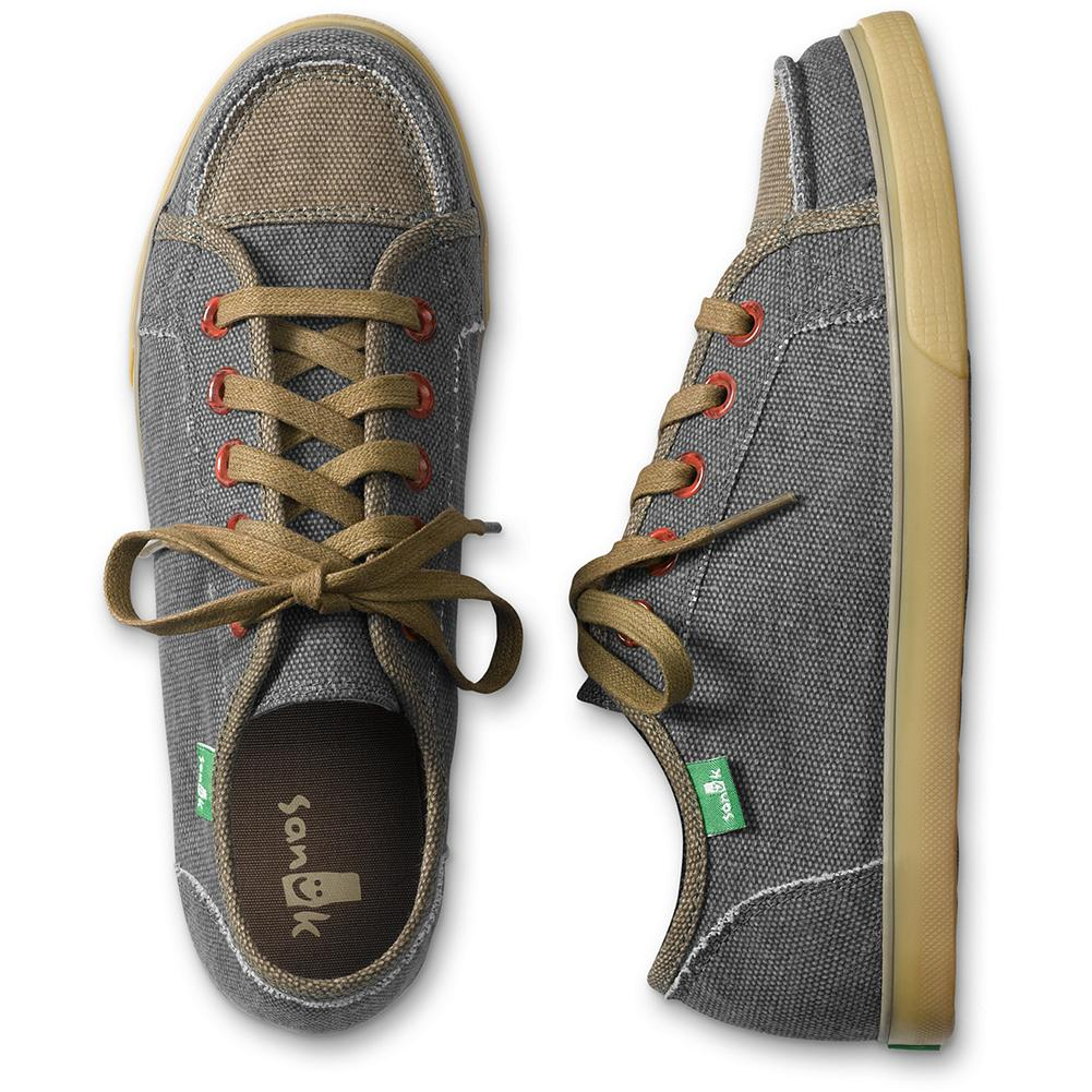 Entertainment Sanuk Anthem Lace-up Sneakers - A comfortable, lightweight sneaker with free-spirited style-from its laces to its paisley soles. Vegan/vegetarian construction with a canvas upper and liner, EVA insole, and ribbed rubber sole for a sure step. Imported. - $19.99