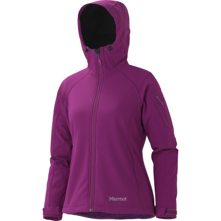 Camp and Hike Don't let a little rain get you down. Toss on the Marmot Women's Super Gravity Jacket, grab your kicks or hiking boots, and get those legs moving. This M1 softshell works extremely well for intermittent aerobic activities in cold and wet conditions. - $129.47