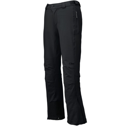 Ski If 'vertical' is a word that appears in your everyday vocabulary, then the Outdoor Research Women's Cirque Softshell Pants want to catch some altitude with you. Made with double-weave stretch fabric and featuring a trim fit, these pants lie comfortably under a harness and don't mind the occasional spring skiing day. Multiple pockets accommodate your essentials while you move up in the world. - $139.95
