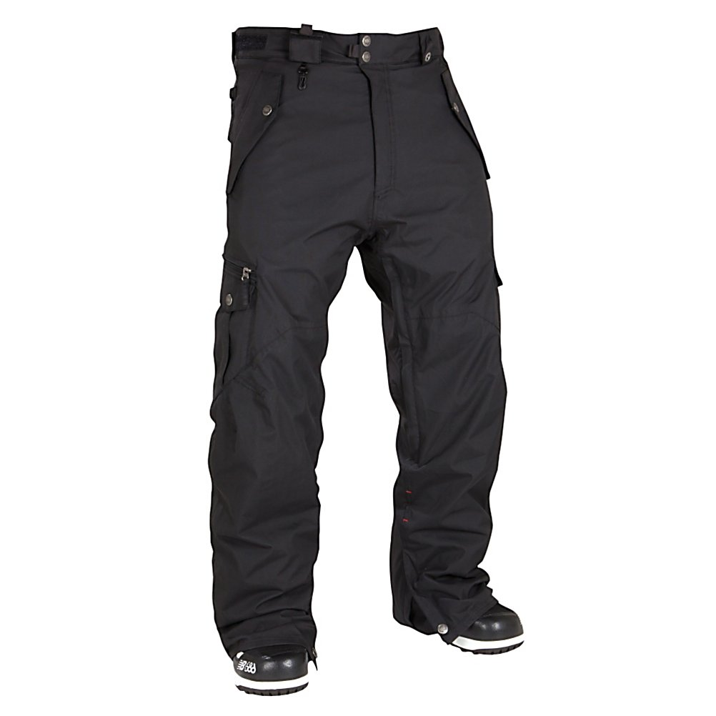 Snowboard 686 Smarty Original Cargo Mens Snowboard Pants - With more charisma and smoldering good looks than Antonio Banderas, the Smarty Original Cargo pants from 686 come in poppin colors. Offering more features than your local movie theater, the Original comes armed and ready to ride with it's Infidry-15 laminate which provides excellent weather protection for blizzard-like conditions and varying temperature ranges while still providing a breathable interior and fully taped seams to back it up. Comes with a zip out 250g fleece Smarty liner for extra warmth. User-controlled air conditioning in the Original comes standard with inner thigh vents that zip up and down easily without the mesh getting stuck. You get snow gaiters in the cuffs with boot hooks that keep the cuff down and sock guards to keep you dry, a size adjustable waistband (in case you eat too much at the Lodge). The Original has a baggy, more relaxed look along with articulated knees to improve fit and mobility. The Original is packing pretty impressive storage space, including handwarmer pockets, a thigh pocket and back pocket, plus a hidden credit card / ID stash pocket. Features: Curved back hem opening to reduce heel drag, Pant to Jacket powderskirt connection points, New stash goggle chamois cloth included, Gusseted crotch panel, Cordura reinforced heel protection with custom screenprint. Exterior Material: Nylon Oxford, Softshell: No, Insulation Weight: 250 Grams, Taped Seams: Fully Taped, Waterproof Rating: 15,000mm, Breathability Rating: 10,000g, Full Zip Sides - $99.93
